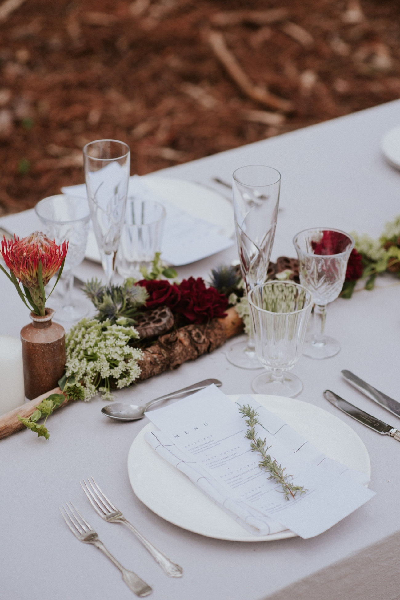Rustic Tablescape | Credit: Lad & Lass Photography