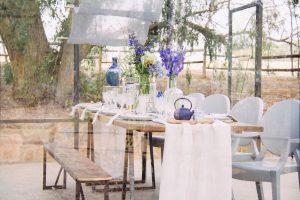 Indigo Blue Eclectic Tablescape   Credit: Dust & Dreams Photography