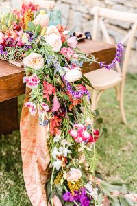Colorful Floral Runner | Credit: Jacoba Clothing/PhotoKru