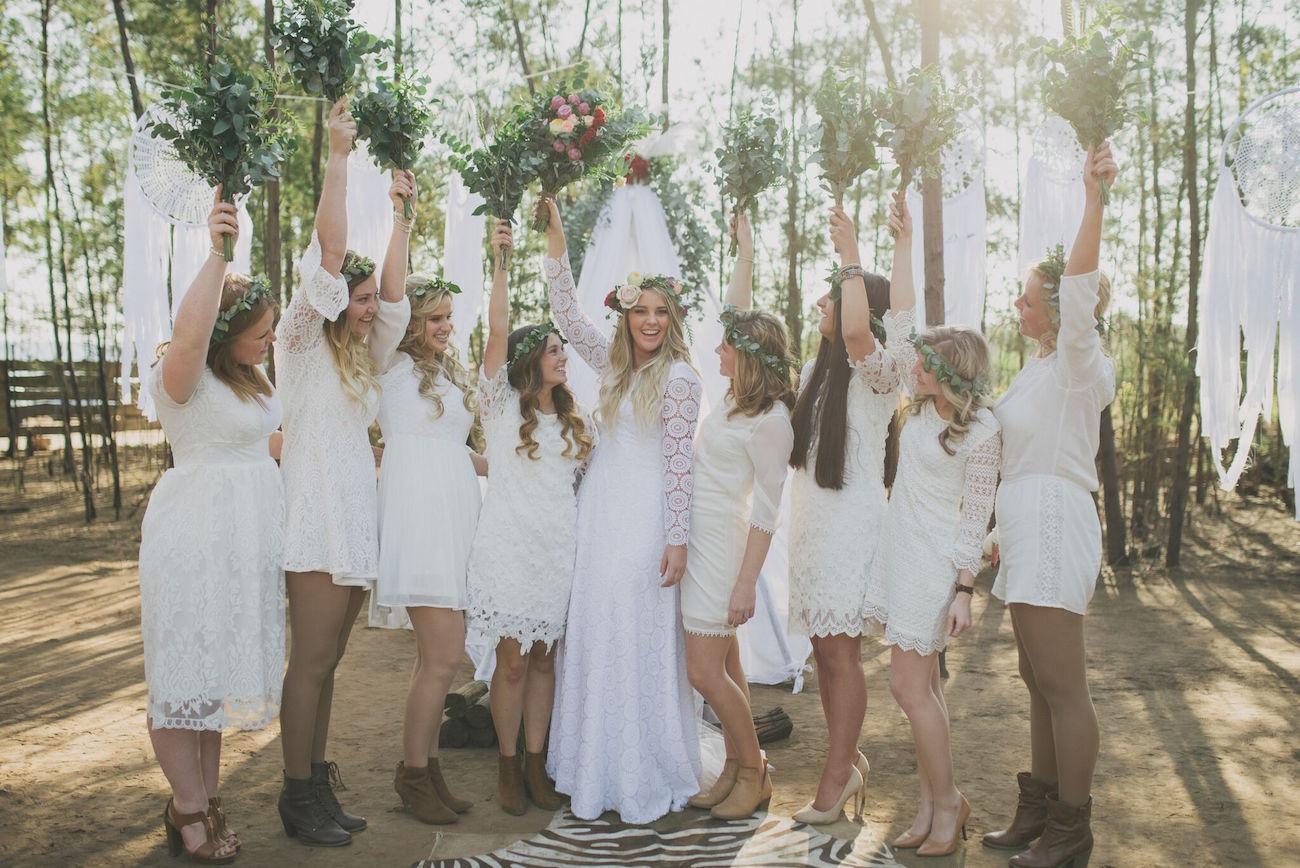 Boho Bridesmaids | Credit: Vicky Bergallo