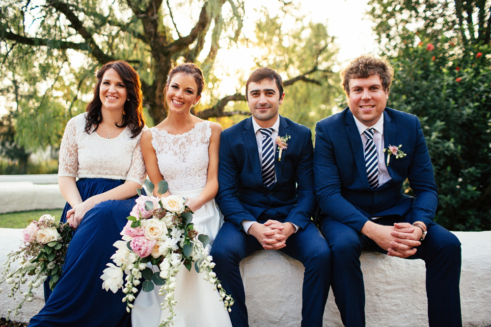 Navy and Cream Wedding Party | Images: Marli Koen