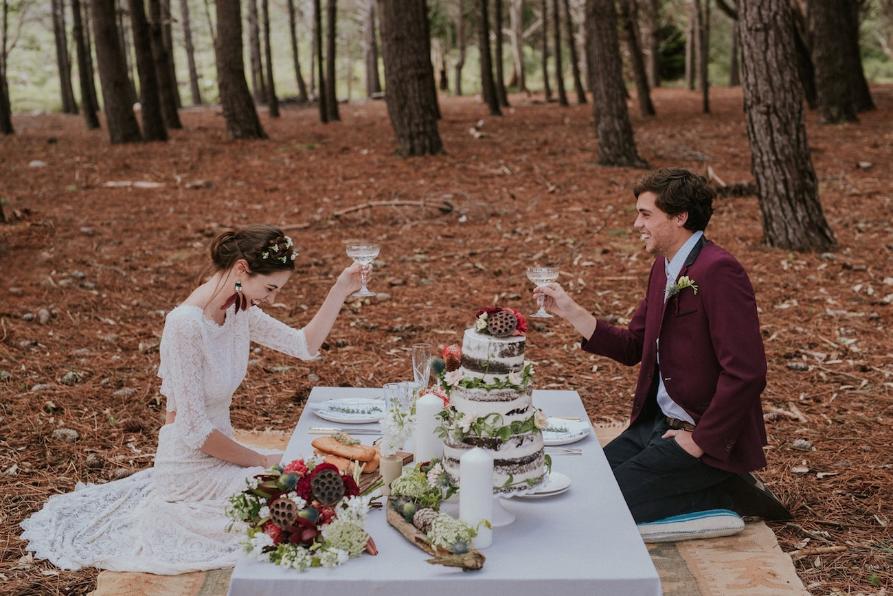 Woodlands Elopement Inspiration | Credit: Lad & Lass Photography
