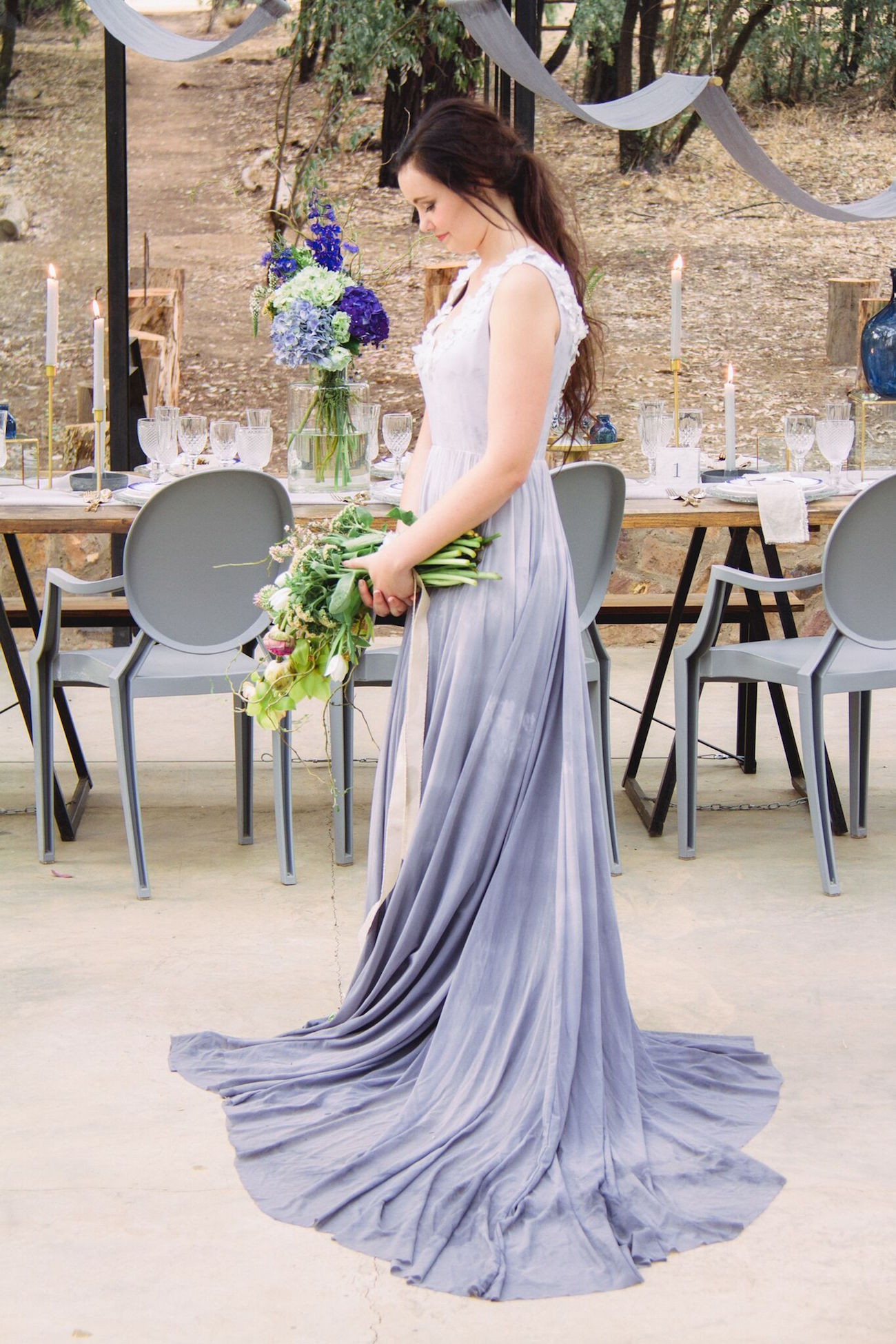 Blue Ombre Wedding Dress Credit Dust Dreams Photography