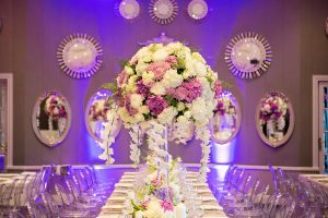 Luxurious Floral Wedding Centerpiece | Credit: Tyme Photography & Wedding Concepts