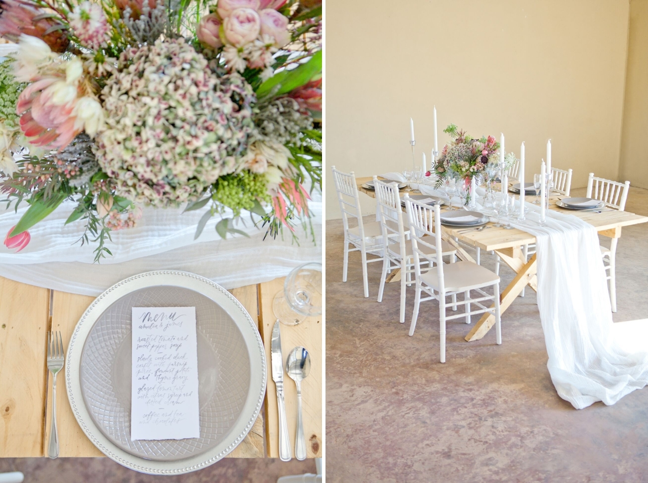 Romantic South African Protea Wedding Inspiration | Image: Corette Faux