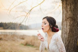Spanish Style Bridal Hair and Makeup | Credit: Roxanne Davison