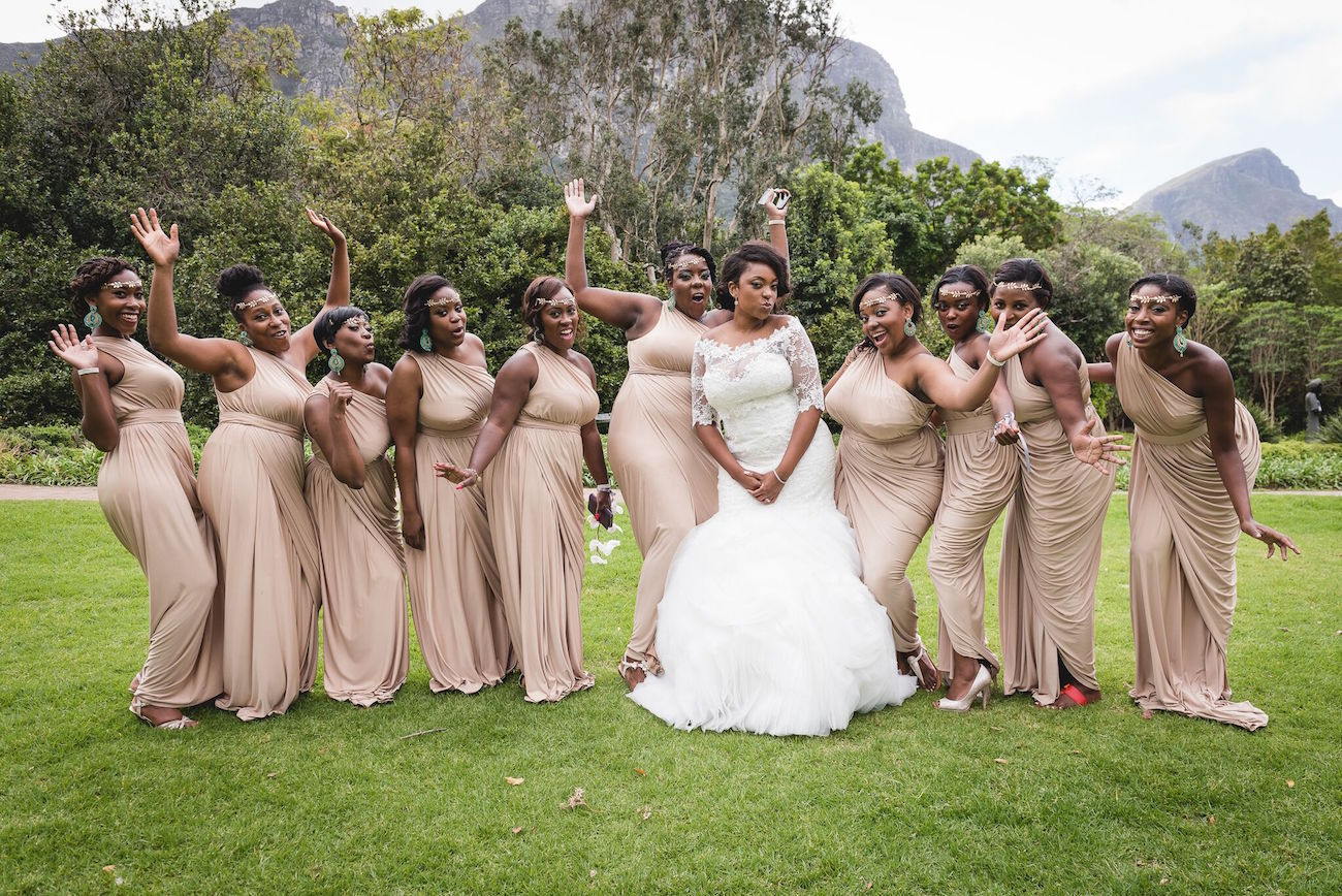 Bridesmaids in Blush | Image: Daryl Glass