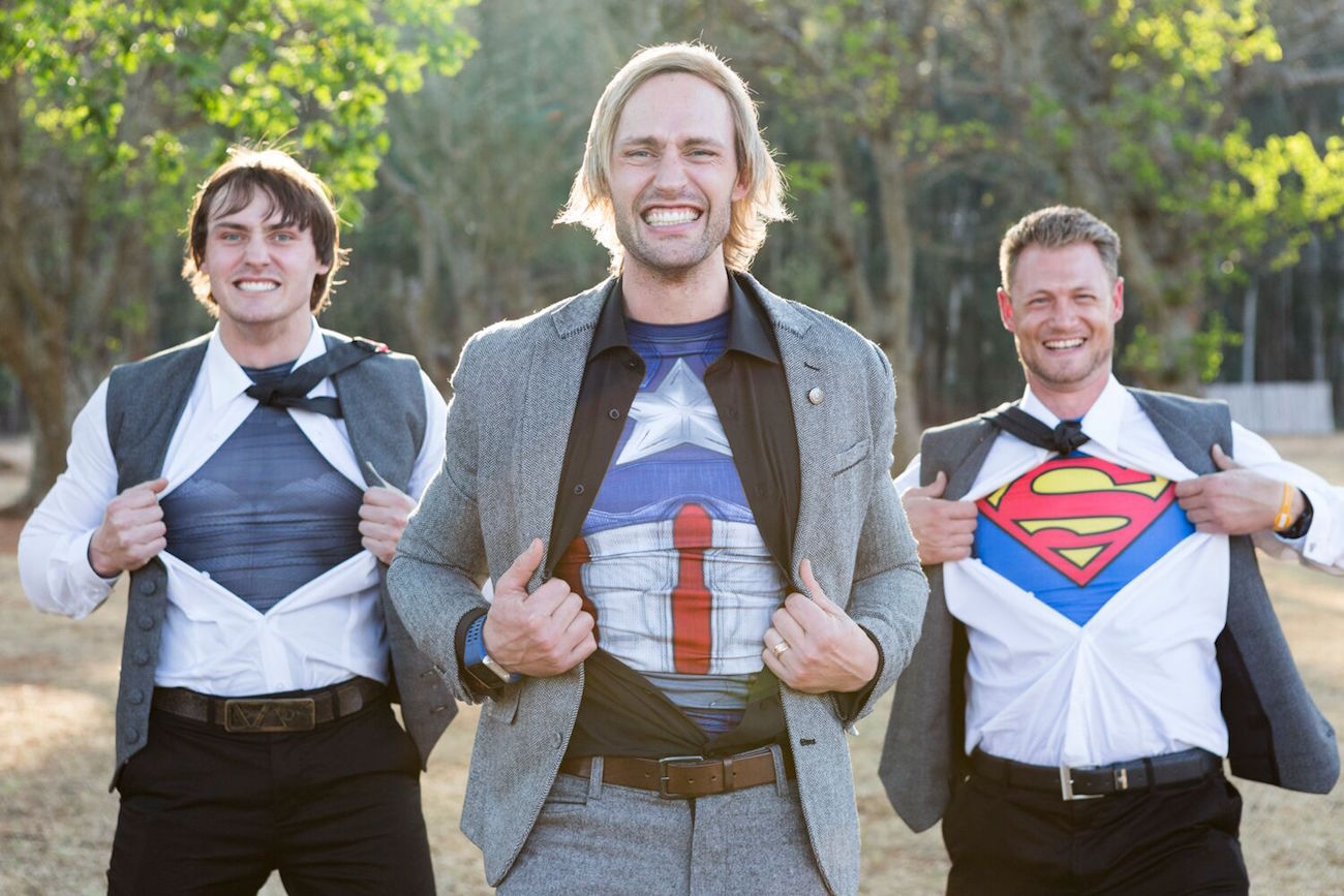 Superhero Groomsmen | Image: Daniel West