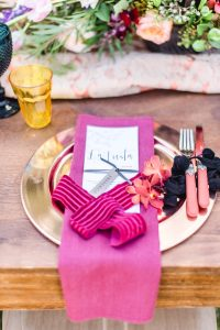 Colorful Place Setting Fuschia | Credit: Jacoba Clothing/PhotoKru