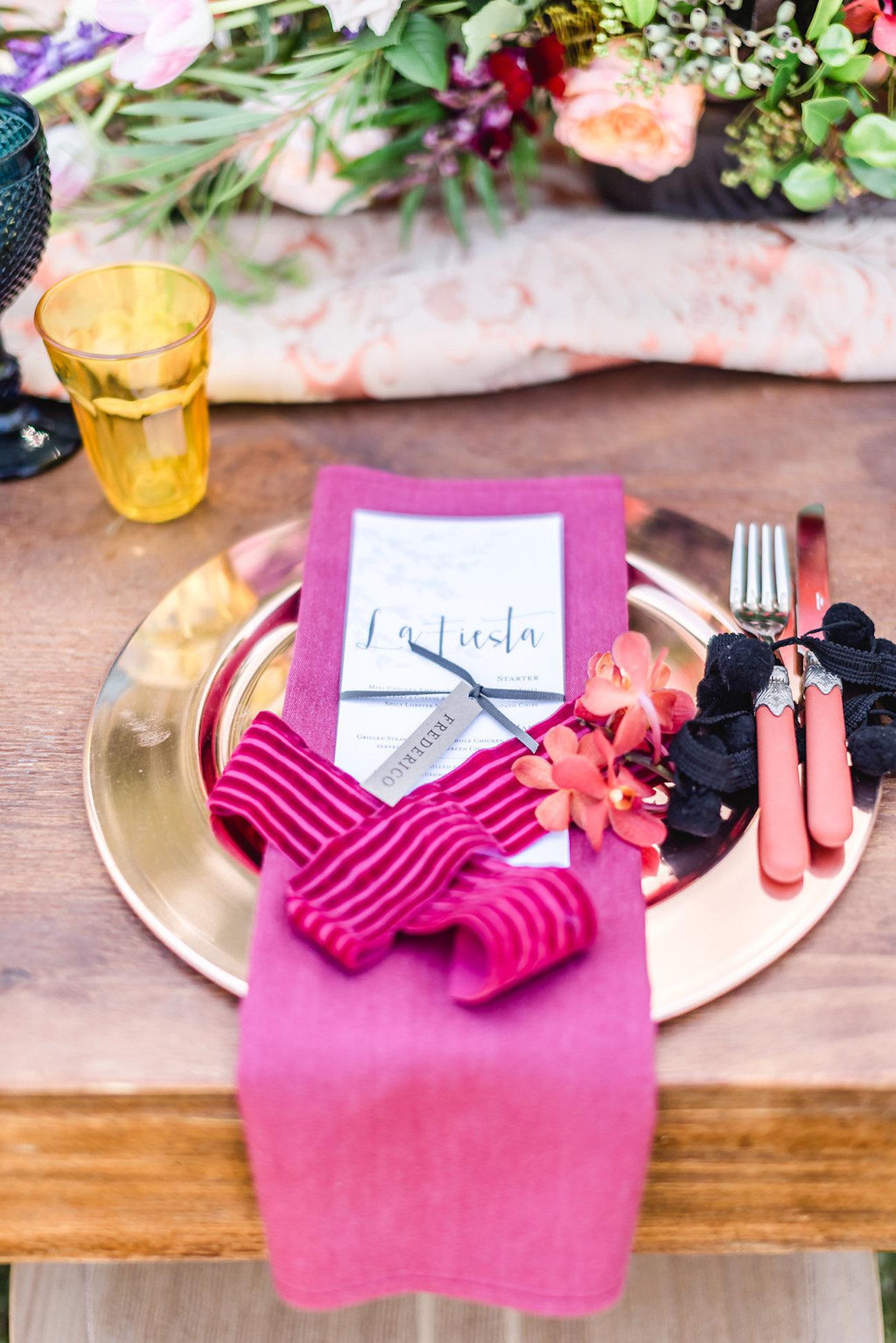 Colorful Place Setting Fuschia | Credit: Jacoba Clothing/PhotoKru