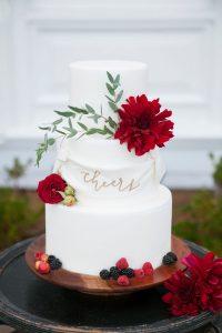 Cheers Fondant Wedding Cake | Image: Katie Parra