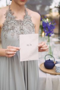 Grey Lace Wedding Dress | Credit: Dust & Dreams Photography
