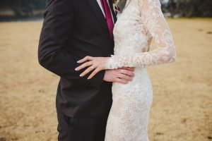 Lace Sleeve Wedding Dress | Credit: Roxanne Davison
