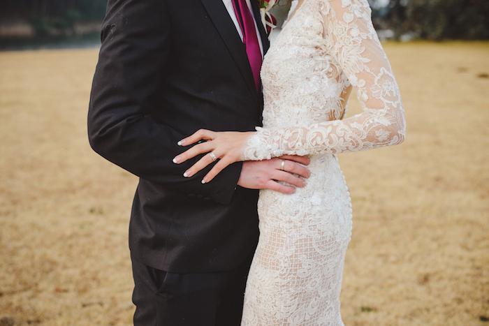 Lace Sleeve Wedding Dress   Credit: Roxanne Davison