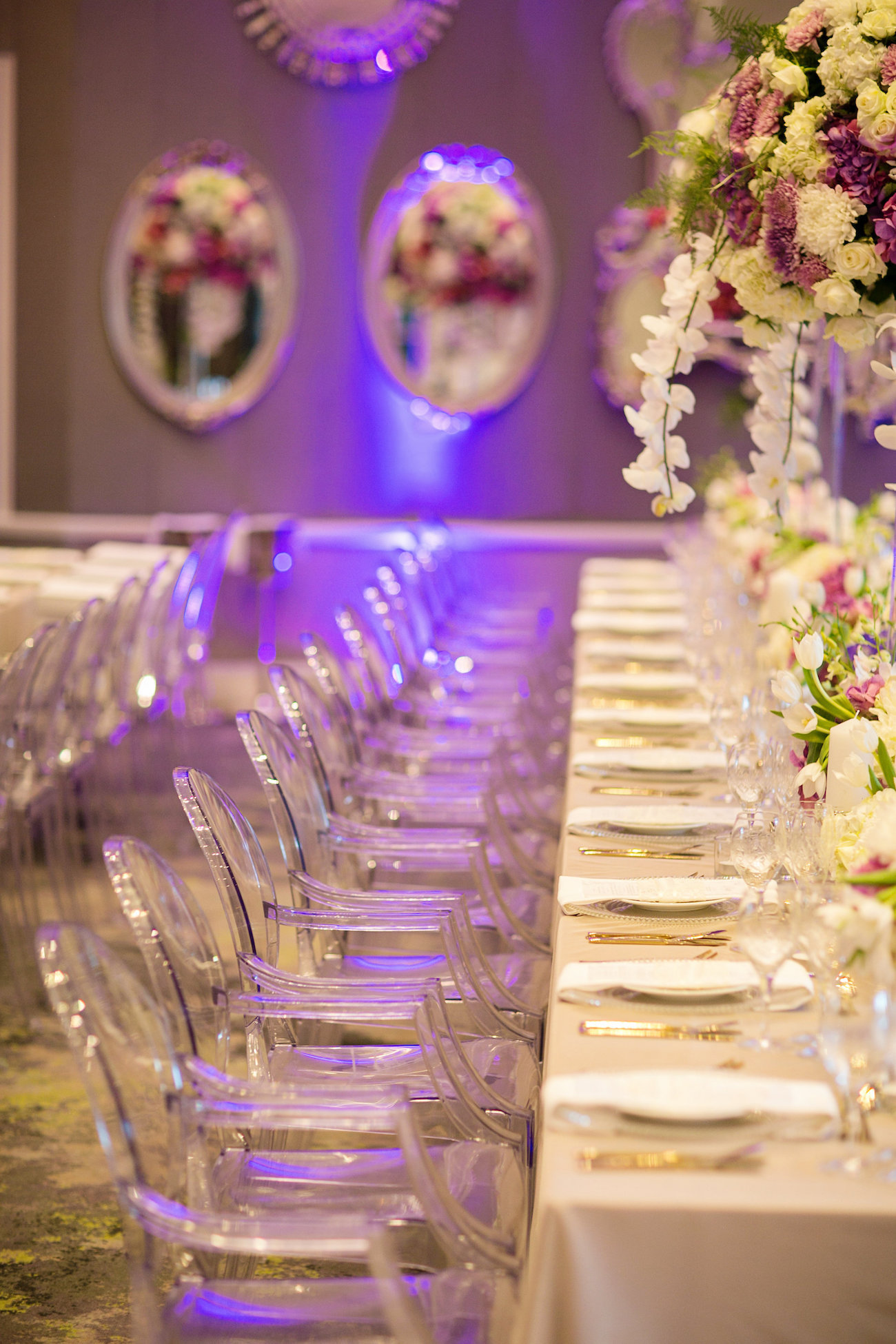 Luxurious Floral Wedding Tablescape | Credit: Tyme Photography & Wedding Concepts