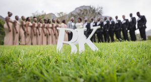 Monogram Letters Bridal Party Shot | Image: Daryl Glass