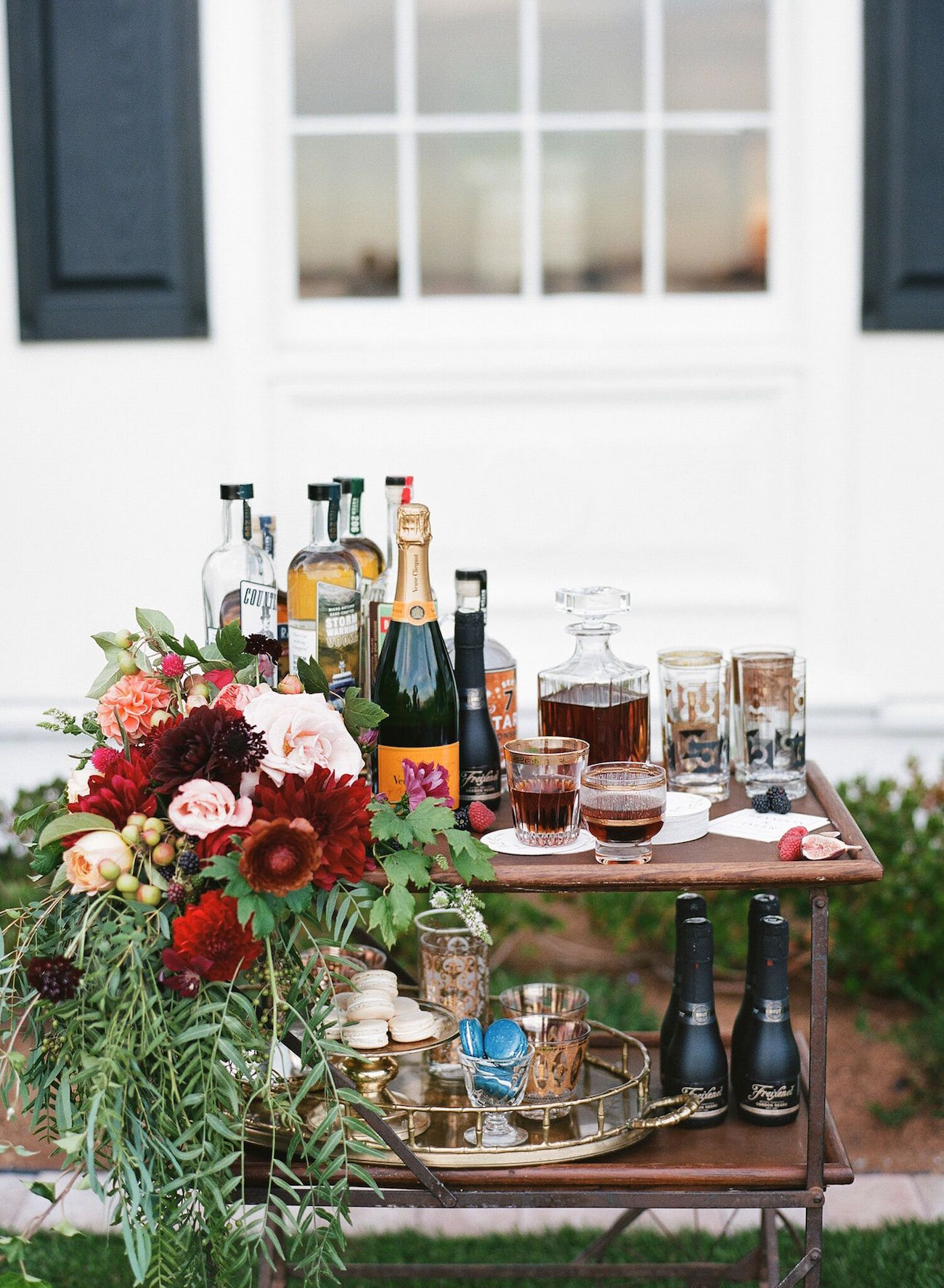 Styled Bar Cart | Image: Katie Parra