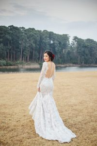 Low Back Lace Casey Jeanne Wedding Dress | Credit: Roxanne Davison