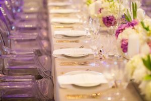 Tablescape with Gold Flatware | Credit: Tyme Photography & Wedding Concepts