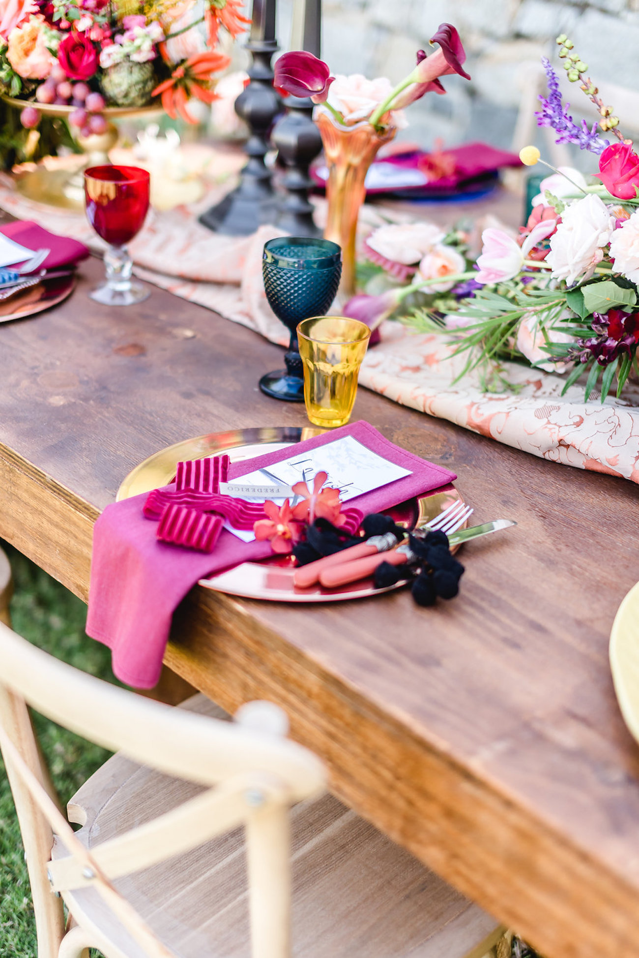 Colorful Table Setting | Credit: Jacoba Clothing/PhotoKru