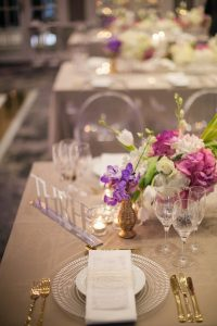 Laser Cut Acrylic Table Number | Credit: Tyme Photography & Wedding Concepts