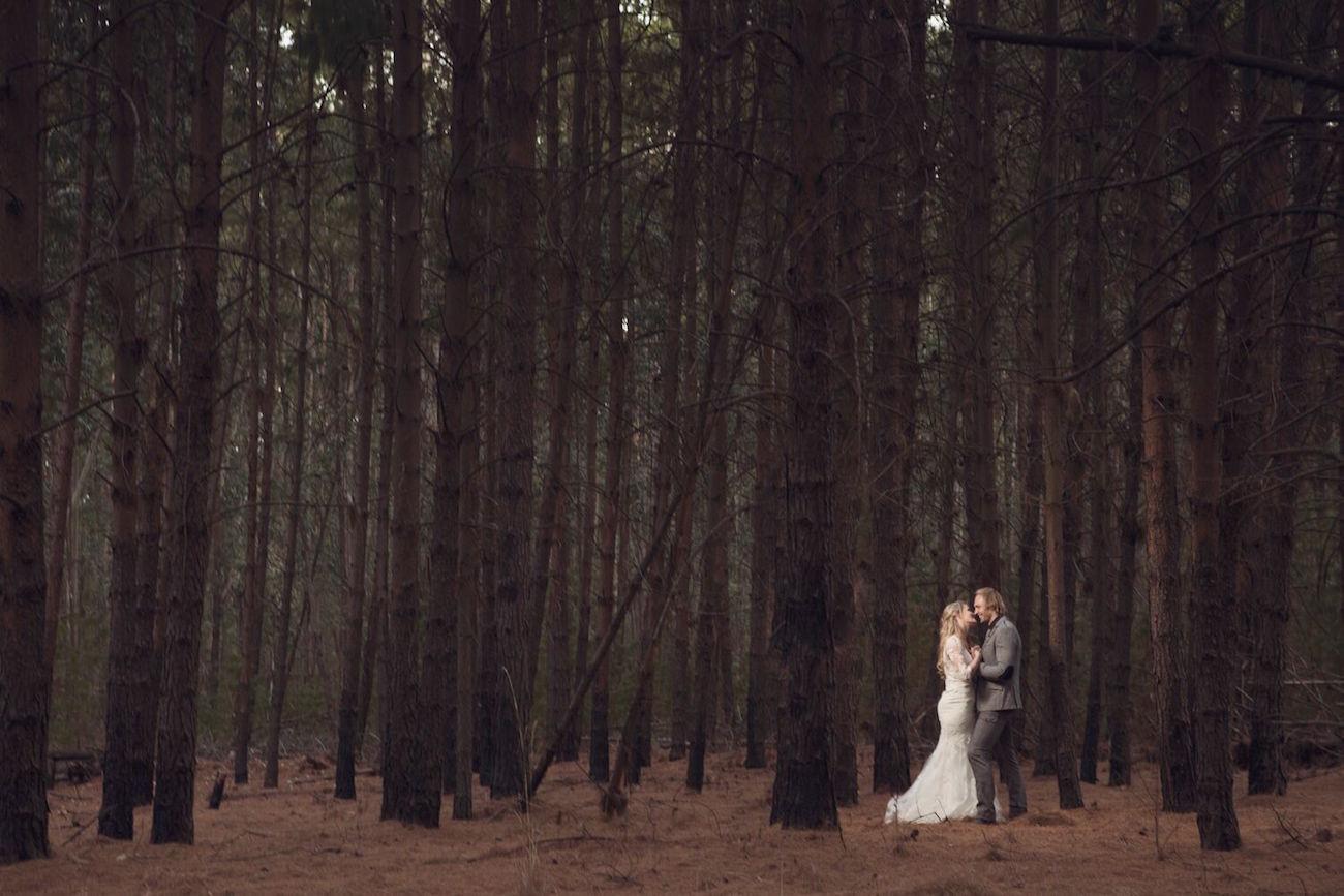 Forest Bridal Portrait | Image: Daniel West