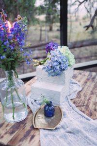 Concrete Texture Square Wedding Cake | Credit: Dust & Dreams Photography