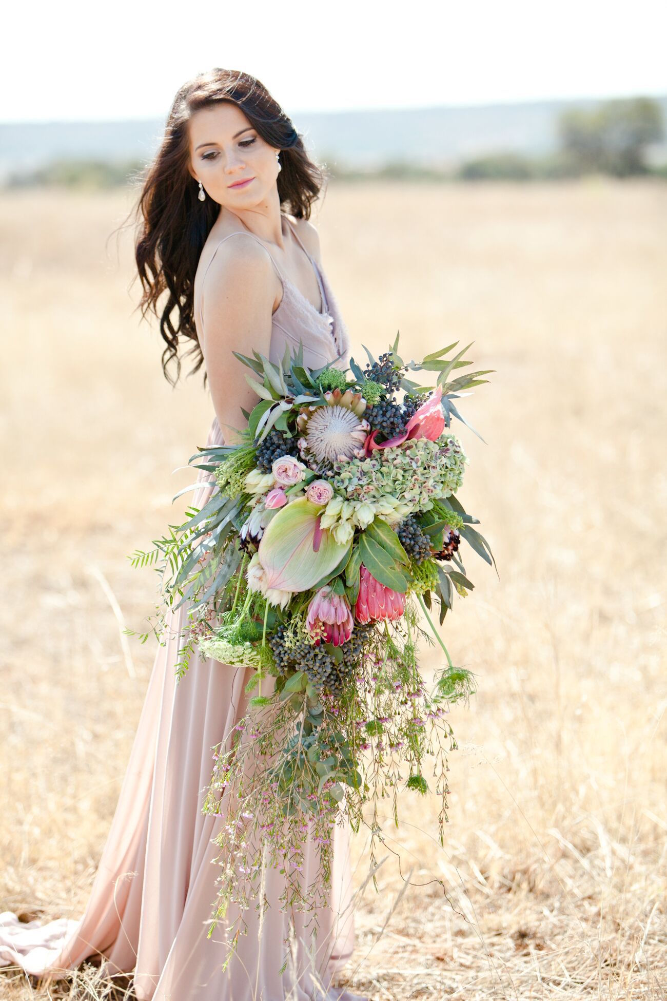 Romantic South African Protea Wedding Inspiration By