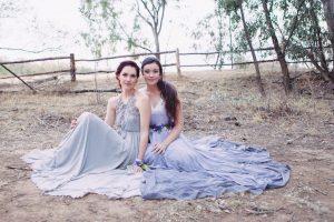 Blue Grey Wedding Dresses | Credit: Dust & Dreams Photography