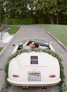 Porsche Wedding Getaway Car | Image: Katie Parra