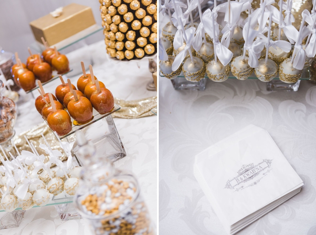 Glam Gold Dessert Table | Image: Daryl Glass