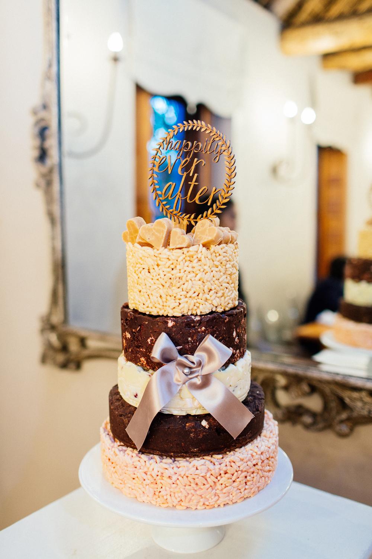 Rice Krispie Tiered Wedding Cake   Images: Marli Koen