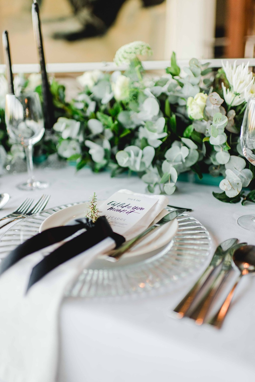 Graceful Greenery Wedding Place Setting | Image: Carla Adel