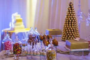 Gold Dessert Table | Image: Daryl Glass
