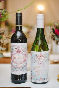 Custom Wedding Wine Labels | Credit: Roxanne Davison