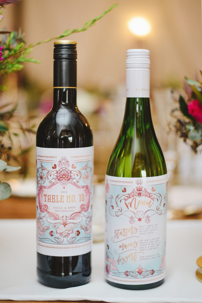 Custom Wedding Wine Labels   Credit: Roxanne Davison