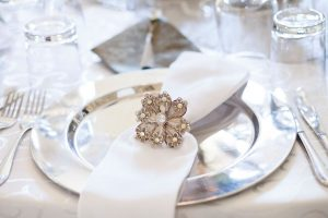 White & Silver Place Setting | Image: Daniel West