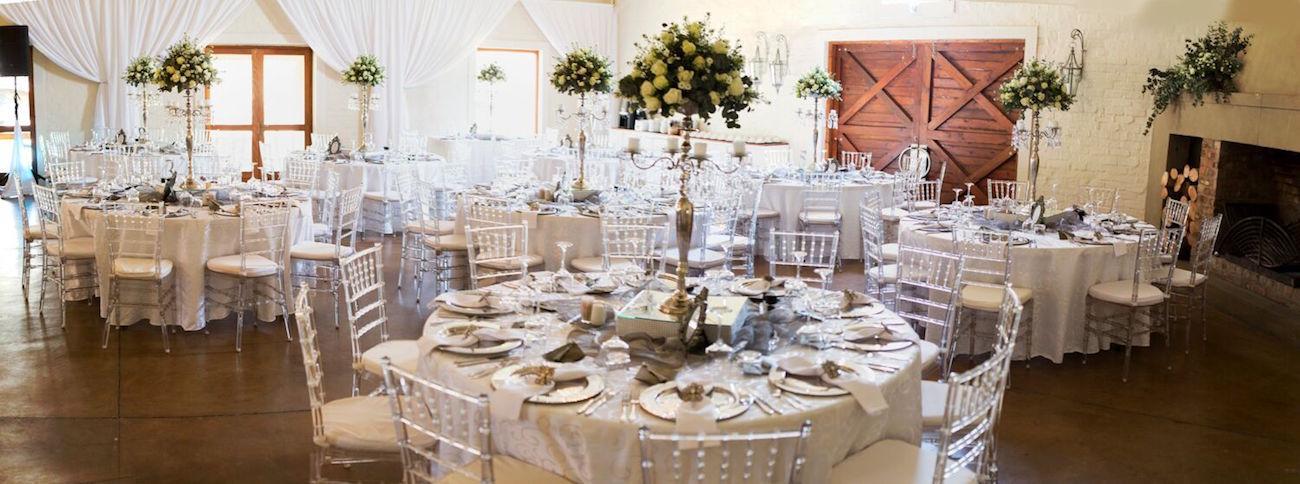 White and Silver Wedding Decor | Image: Daniel West