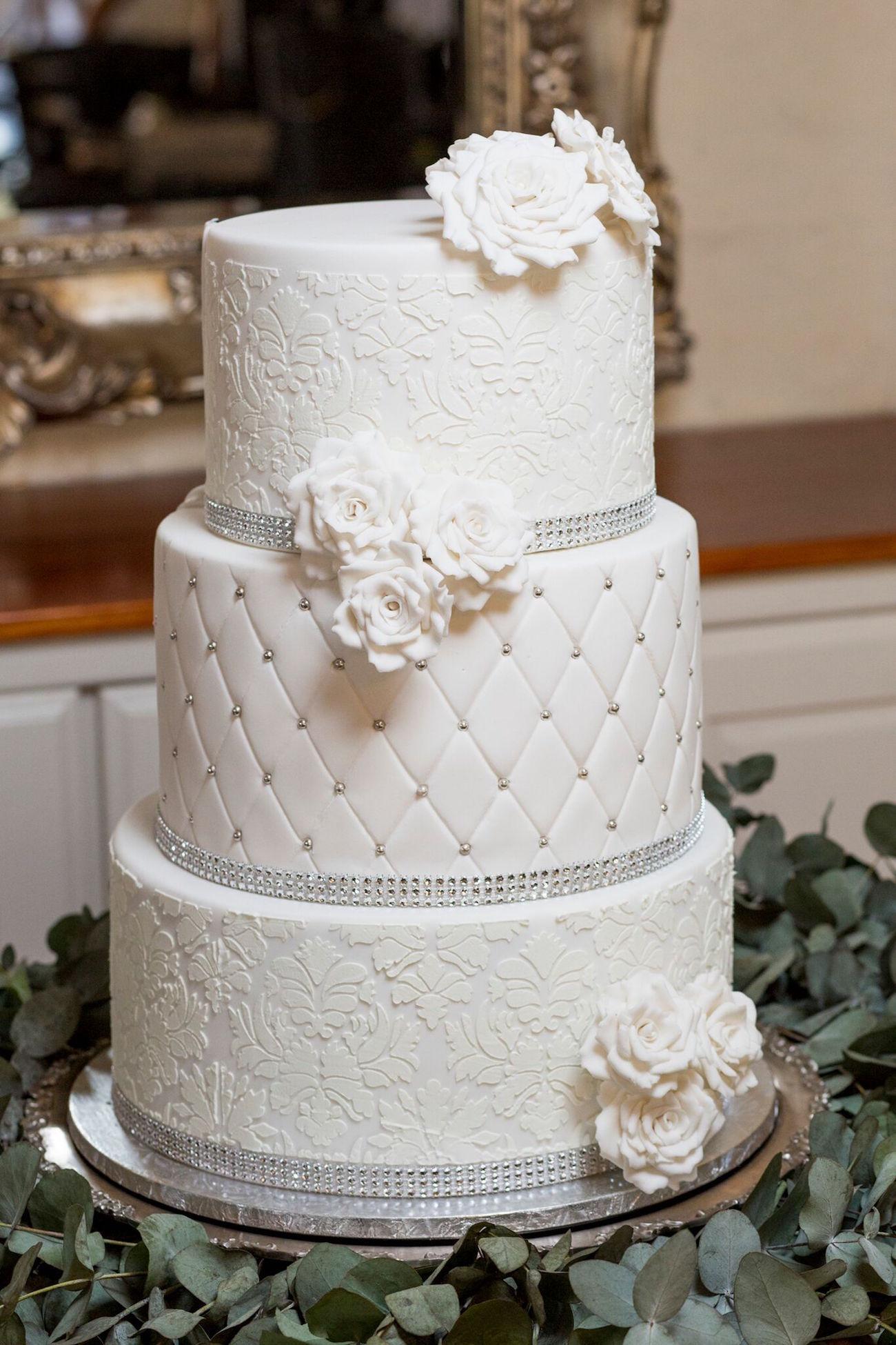 Classic White Wedding Cake | Image: Daniel West