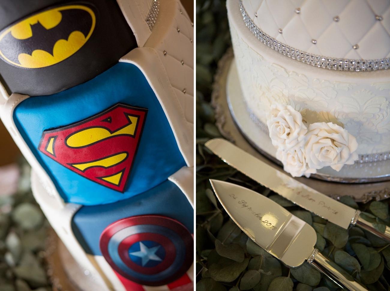 Superhero Wedding Cake | Image: Daniel West