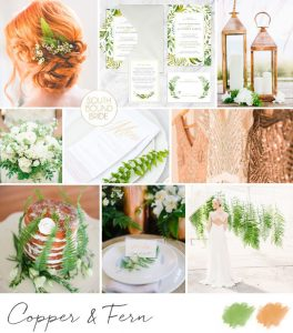 Pantone Greenery Inspiration Board: Copper & Fern | SouthBound Bride
