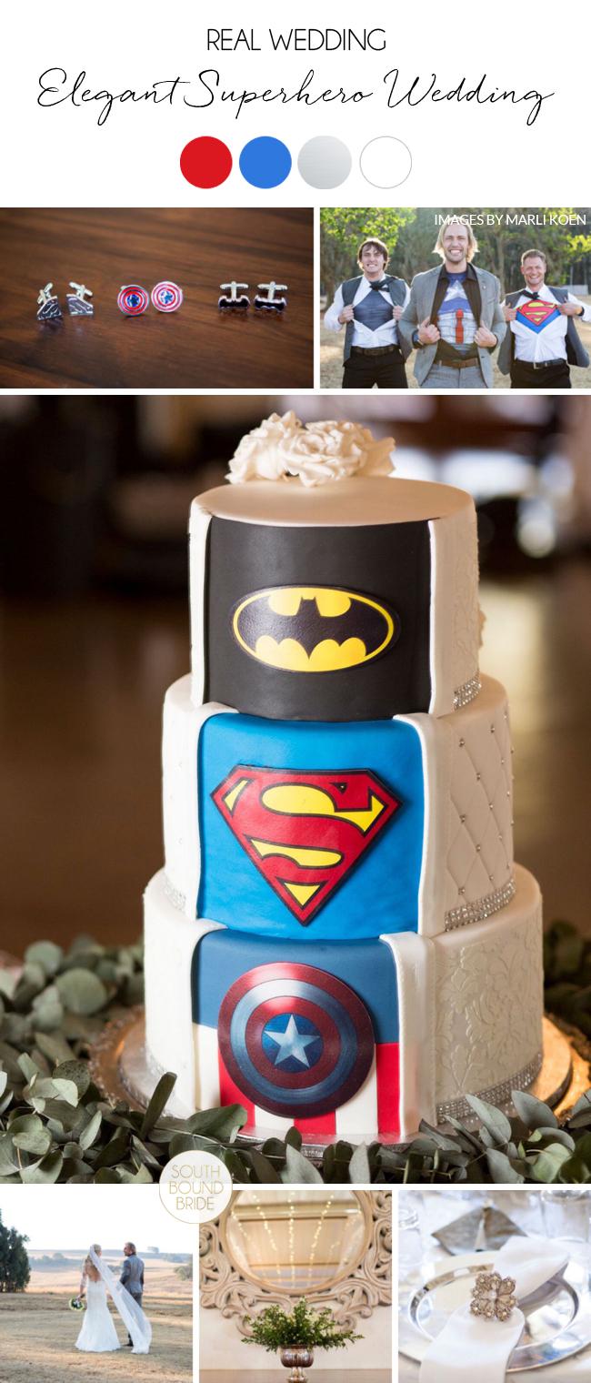 Elegant Superhero Themed Wedding | Image: Daniel West