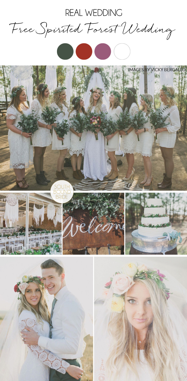 Free Spirited Forest Wedding by Vicky Bergallo Photography   SouthBound Bride
