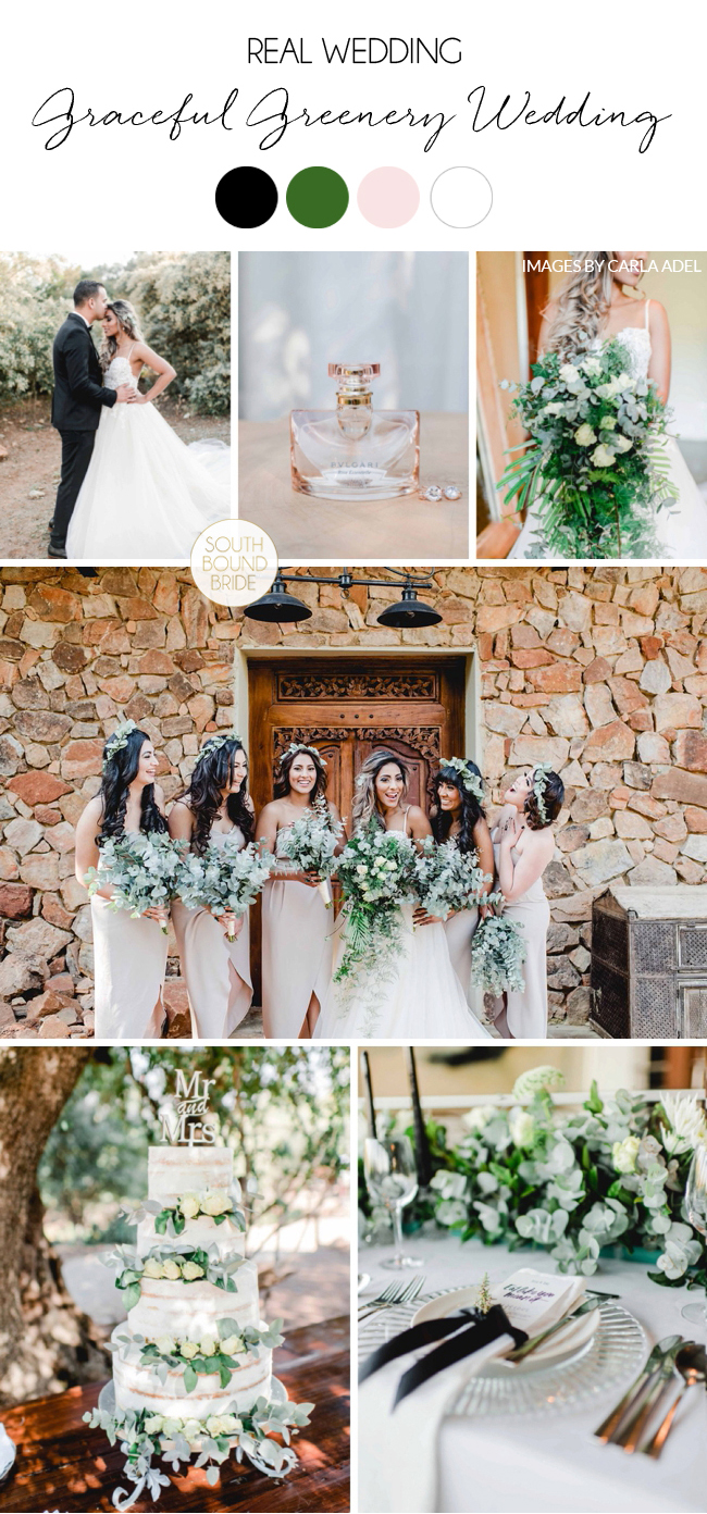 Graceful Greenery Wedding | Images: Carla Adel