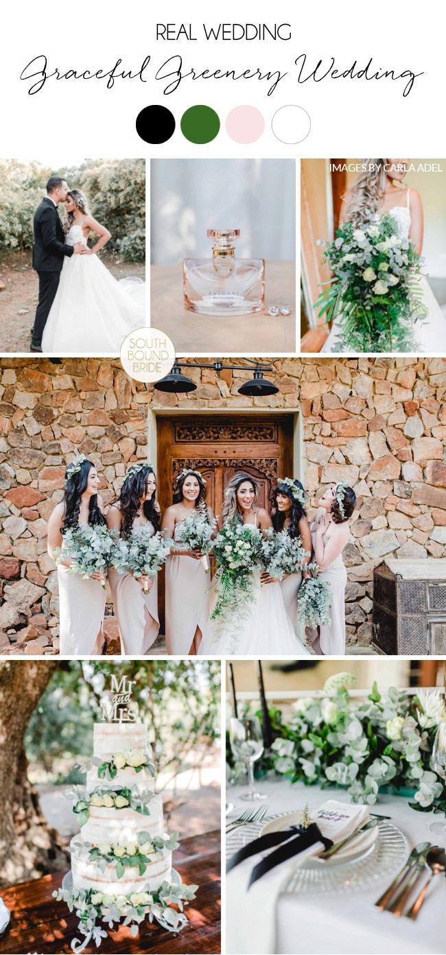 Graceful Greenery Wedding | Images: Carla Adel