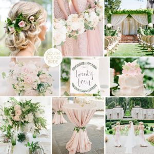 Pantone Greenery Inspiration Board: Greenery & Blush | SouthBound Bride
