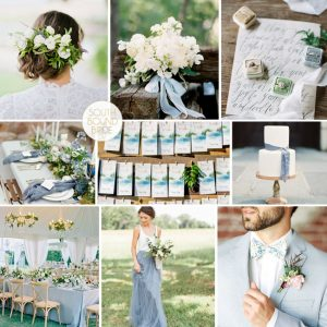Pantone Greenery Inspiration Board: Leaf & Sky | SouthBound Bride