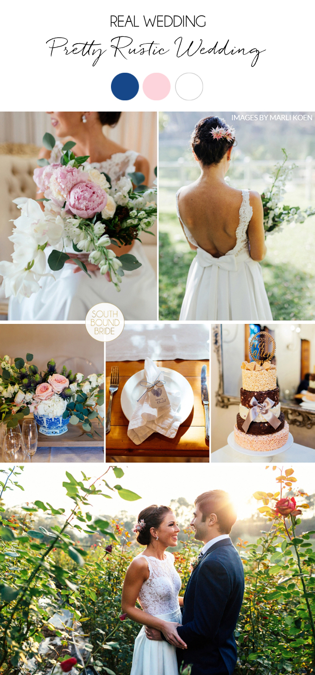 Pretty Rustic Wedding with a Touch of Delft by Marli Koen | SouthBound Bride