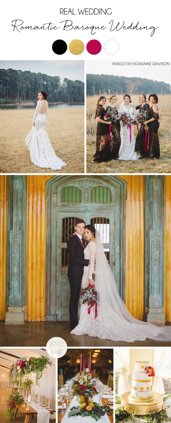 Romantic Baroque Wedding at Waterwoods by Roxanne Davison