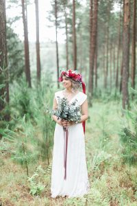 Bride in Floral Crown | Image: Alicia Landman